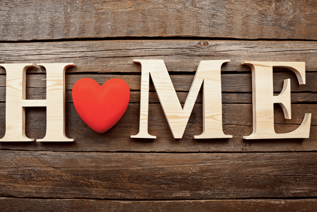 wooden home letters
